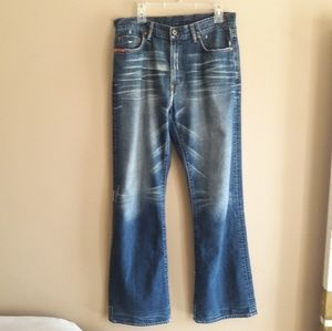 Guess Jeans Mens Size 34x34  Straight Distressed D